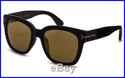 50% OFF TOM FORD Women Oversize Sunglasses BLACK GOLD BROWN BI-MIRROR 0431D 01G