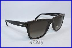 AUTHENTIC TOM FORD LEO TF9336-05K Wood Streak Black / Brown Gradient Sunglasses