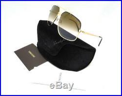 AUTHENTIC Tom Ford Unisex Aviator TF 439 01G Gold/Black Tone Ronnie Sunglasses