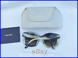 Authentic New Tom Ford Sunglasses Women TF 279 Beige 52F Christophe 53mm
