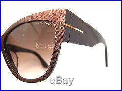 Authentic TOM FORD Anoushka Cat Eye Sunglasses FT TF 371-F 50F NEW