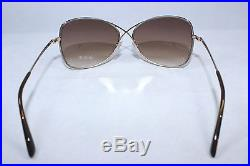 Authentic TOM FORD COLETTE TF250-28F Shiny Rose Gold/Brown Gradient Sunglasses