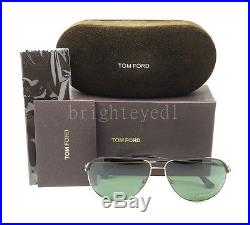 Authentic TOM FORD Erin Black/Gold Aviator Sunglasses FT TF 466 05N NEW