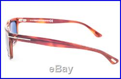 Authentic TOM FORD Hugh 337 52B Sunglasses Tortoise / Blue NEW 55mm