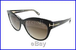 Authentic TOM FORD Lily Polarized Black Cat Eye Sunglasses FT TF 430 05D NEW
