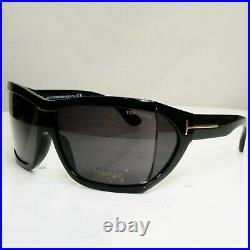 Authentic TOM FORD Mens Sunglasses Unisex Square Black Sedgewick TF402 01A 30676