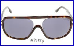 Authentic TOM FORD Robert FT0442 52V Sunglasses Havana /Blue Lens NEW 59mm