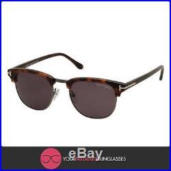 Authentic TOM FORD Sunglasses HENRY FT 0248 52A Dark Havana Ruthenium/Smoke 51mm