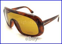 Authentic TOM FORD Sven Light Tortoise Shield Sunglasses FT TF 471 56E NEW