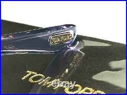 Authentic TOM FORD Womens Sunglasses Shiny Bronze Brown Carla TF157 48F 34462