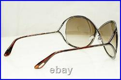 Authentic TOM FORD Womens Sunglasses Shiny Bronze Brown Miranda TF130 36F 30676
