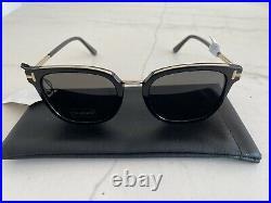 Authentic Tom Ford 0804-K 01D Sunglasses Unisex Polarized Black/Grey Brand New