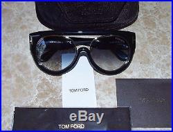 967b1cb3d64 Authentic Tom Ford Alana Aviator Sunglasses TF 360 01B Black  530 NEW