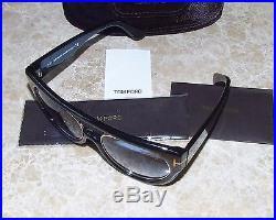 Authentic Tom Ford Alana Aviator Sunglasses TF 360 01B Black $530 NEW