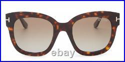Authentic Tom Ford Beatrix FT0613 52H SUNGLASSES Havana/Brown Polar NEW 52mm