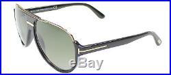 Authentic Tom Ford Dimitry FT0334 TF 334 01P Black Gold Aviator Sunglasses