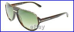 Authentic Tom Ford Dimitry FT0334 TF 334 56K Havana Gold Aviator Sunglasses