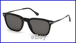 Authentic Tom Ford FT 0625 Arnaud 02 01D Shiny Black Polarized Sunglasses