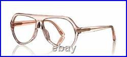 Authentic Tom Ford FT 0732 Thomas 072 Transparent Pink Pilot Men's Eyeglasses