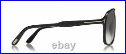 Authentic Tom Ford FT 0753 Raoul 01B Shiny Black/Gray Gradient Sunglasses