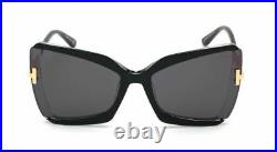 Authentic Tom Ford FT 0766 Gia 03A Black W. Endura Gold/Gray Sunglasses