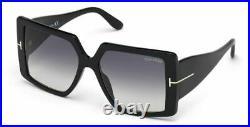 Authentic Tom Ford FT 0790 Quinn 01B Black/Smoke Gradient Women's Sunglasses