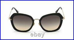 Authentic Tom Ford FT 0792 Kenyan 01B Black/Smoke Gradient Women's Sunglasses
