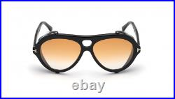 Authentic Tom Ford FT 0882 Neughman 01B Black/Amber Gradient Men's Sunglasses