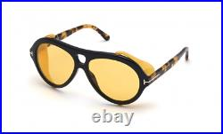 Authentic Tom Ford FT 0882 Neughman 01E Amber Tortoise/Brown Yellow Sunglasses