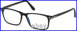 Authentic Tom Ford FT 5584-F-B 001 Shiny Black Eyeglasses