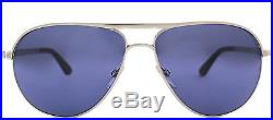 Authentic Tom Ford Marko FT0144 TF 144 18V Silver Aviator James Bond Sunglasses