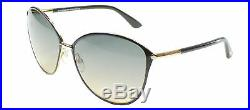 Authentic Tom Ford Penelope FT0320 TF 320 28B Black Cat Eye Sunglasses