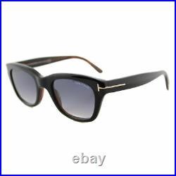 Authentic Tom Ford Snowdon FT0237 TF 237 05B Black Plastic Sunglasses 52mm