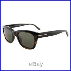 Authentic Tom Ford Snowdon FT0237 TF 237 52N Havana Plastic Sunglasses 50mm