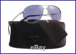Authentic Tom Ford Sunglasses TF 144 Silver 18V MARKO Men's Aviator 58mm