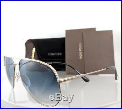 Brand New Authentic Tom Ford Sunglasses FT TF 0466 29P TF 466 Erin Gold Aviator
