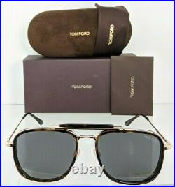 Brand New Authentic Tom Ford Sunglasses FT TF 0665 52A HUCK TF665 Tortoise Frame
