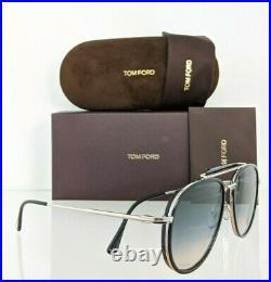 Brand New Authentic Tom Ford Sunglasses FT TF 0666 01B TRIPP TF666 Black Frame