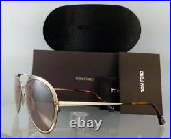 Brand New Authentic Tom Ford Sunglasses FT TF 508 Dashel 28F Gold Frame