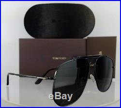 Brand New Authentic Tom Ford Sunglasses FT TF 557 01A Connor-02 Black Frame