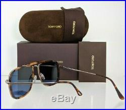 Brand New Authentic Tom Ford Sunglasses FT TF665 53V Huck Frame TF 0665