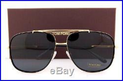 Brand New Tom Ford Sunglasses Benton FT 0693 30A Gold Black/Gray For Men