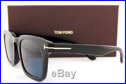 Brand New Tom Ford Sunglasses Dax FT 0751 01V Black/Blue Polarized For Men
