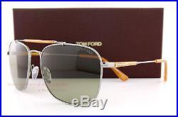 Brand New Tom Ford Sunglasses FT 377 Edward 14N Gunmetal Orange/Green Women Men