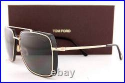 Brand New Tom Ford Sunglasses Lionel FT 0750 01D Gold Black/Gray Polarized Men