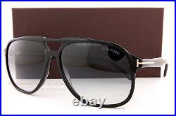 Brand New Tom Ford Sunglasses Raoul FT 0753 01B Black/Gray Gradient For Men