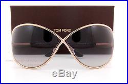 ba5cba01285 Brand New Tom Ford Sunglasses TF 0130 130 Miranda 28B Gold Gray For Women