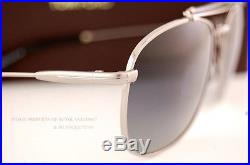 Brand New Tom Ford Sunglasses TF 0339 339 Marlon 14D Silver/Gray Polarized Men