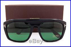 Brand New Tom Ford Sunglasses TF 0470 470 01N Black/Green for Men Women