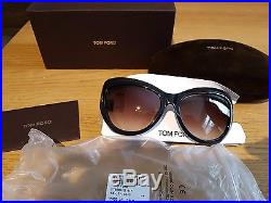 Genuine TOM FORD TF 9284 01F'Bardot' Black Cat Eye Women's Sunglasses
